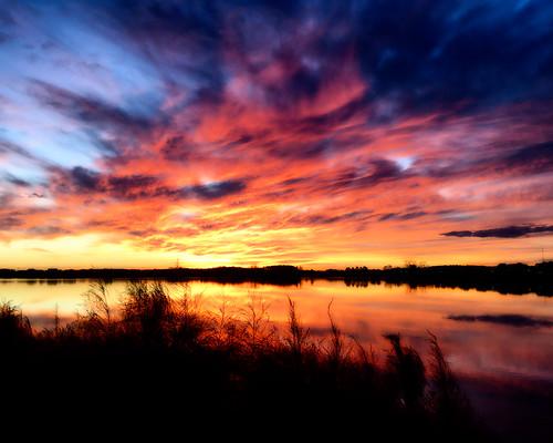 davidadamson daseye ipad sunrise dawn sky skies glow colors colours clouds cloudy lake water reflected reflections reflection