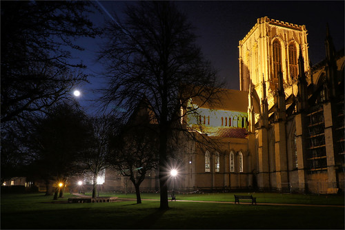 yorkminster minster cathedral gothiccathedral cathedralcity deanspark nightphotography nightshot moon york northyorkshire yorkshire churchyard church worship churchofengland