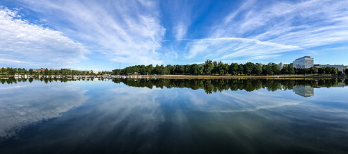 iphone8plus iphone mobile landscape waterscape lake water calm reflection clouds sky helsinki finland