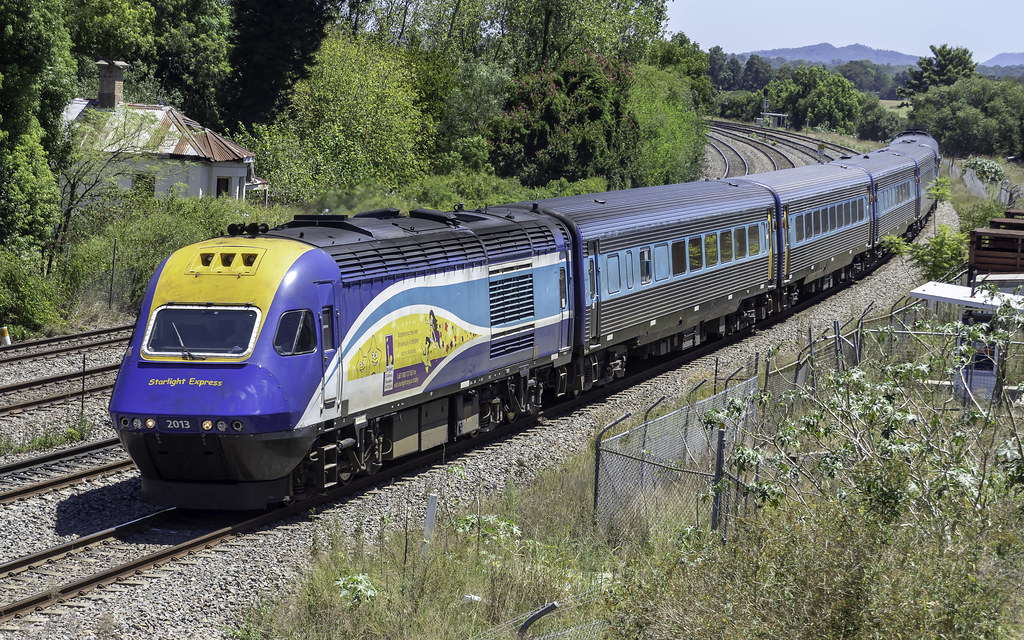 TrainLink XPT 2013 named City of Casino, with Starlight Express decals, as NT36 Holiday Coast XPT from Grafton to Central by Paul Leader - Paulie's Time Off Photography