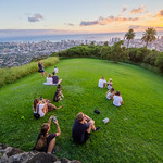 Watching the Sunset, Tantalus Lookout