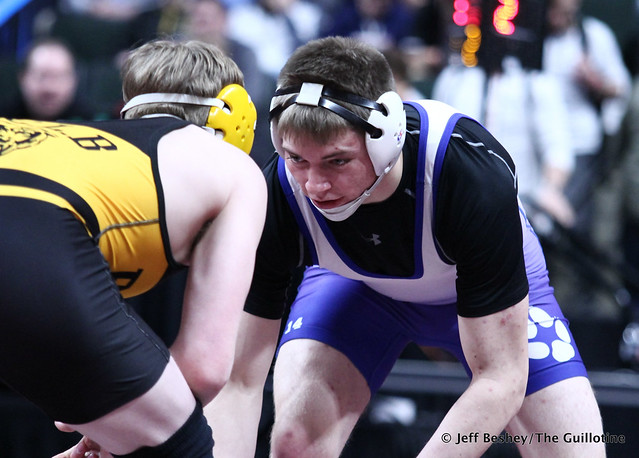 182A 5th Place Match - Mason Smid (Blackduck-Cass Lake-Bena Bears) 43-11 won by decision over Austin Smith (Walker-Hack-Akeley-Nevis) 35-16 (Dec 4-2). 190302BJF0486