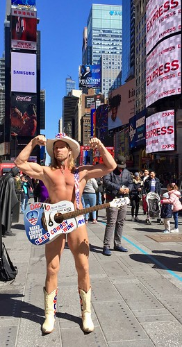 Naked Cowboy - Times Square Editorial Photo - Image of