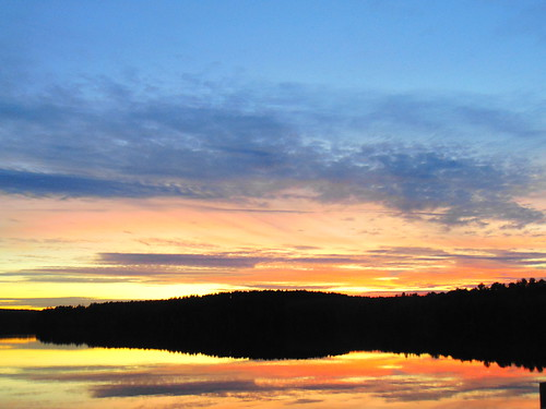 scituate reservoir rhode island sunset forest lake water