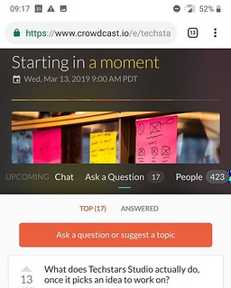 """Having a """"Nicky Minaj in Bordeaux"""" moment waiting for Techstars new startup studio crowdcast to start. Yes, accelerating startups by thousands does not make you free of technical problems. Anyways, not surprised though. 