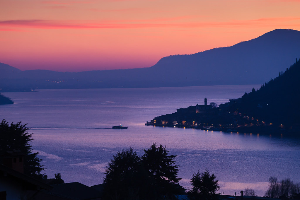 Lake Iseo at Dusk