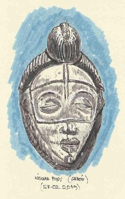 Máscara Punu. Gabón