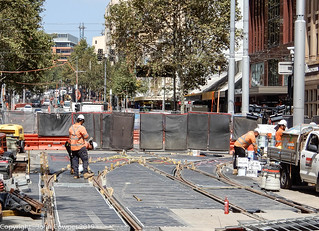CBD & South East LIght Rail - The 'new' Hay Street Junction (1)