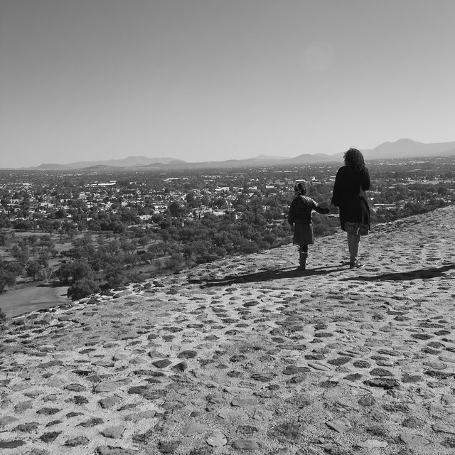 Mother and Daughter on top of the Pyramid of the Sun