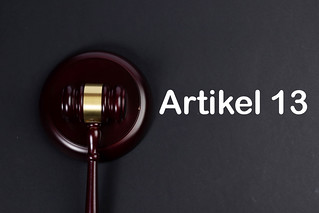 Wooden gavel with Artikel 13 text | by wuestenigel