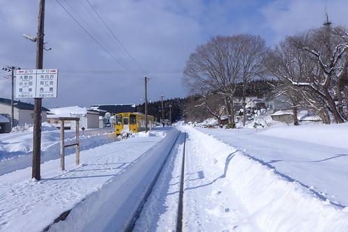 冬の合川駅