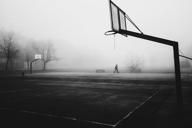 A foggy basket court, Milano, January 2018
