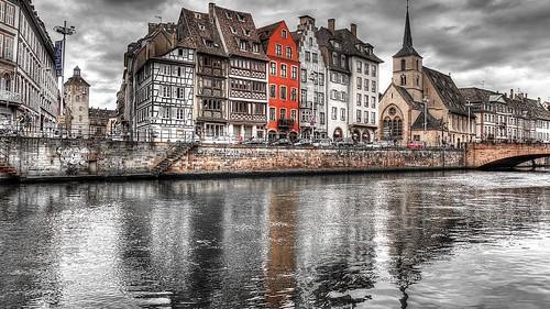 France - Strasbourg - Promenade-saint-nicolas-river-ill-france   by monte-leone