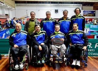 Le due rose della Serie A Paralimpica con il tecnico Motolese