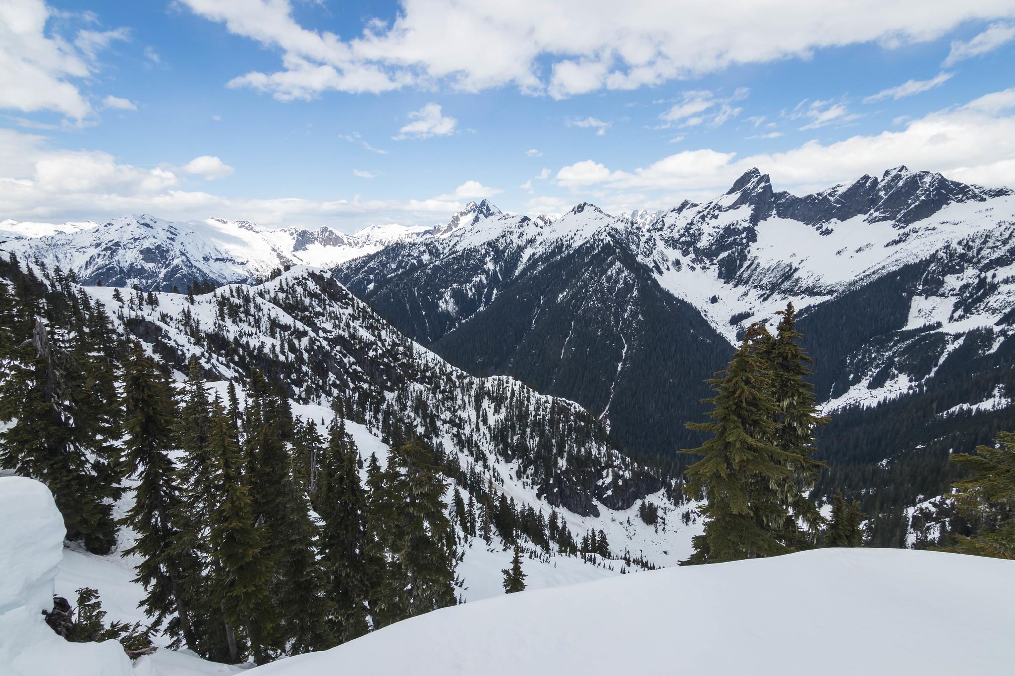 Ridgeside view to the northwest