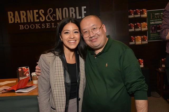 David Sheng with actress Gina Rodriguez(