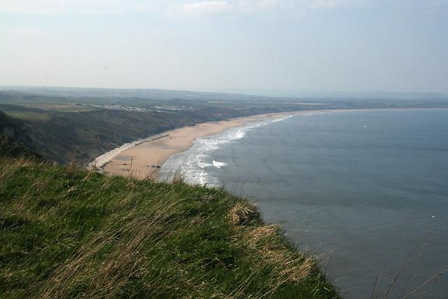 View along Filey Bay from Flamborough