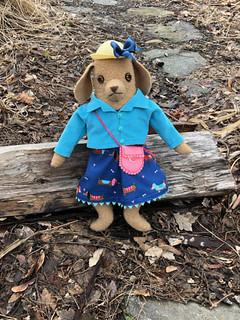 Pup in a doggie dress   by Mimi K