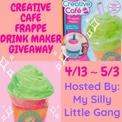 Enter to win the Creative Café Frappe Drink Maker Giveaway. Ends 5/3