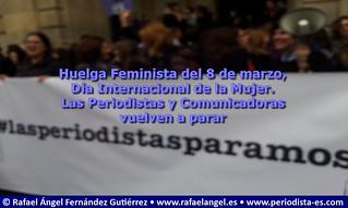 La periodistas paramos. Las comunicadoras paramos. Huelga Feminista del 8 de marzo, Día Internacional de la Mujer