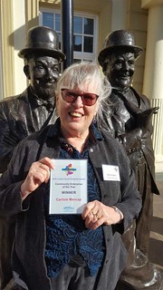 Sheila with CSEP award   by CarlisleMencap