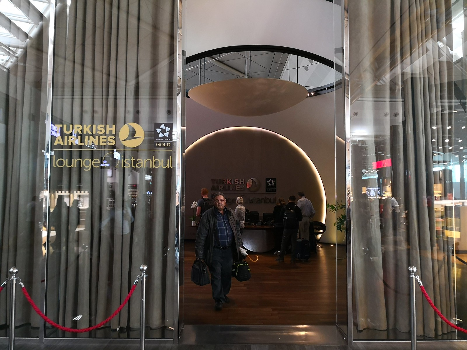 Entrance to the Turkish Airlines lounge