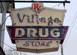 MI, Richland-M 43 Village Drug Store Neon Sign | by Alan C of Marion,IN