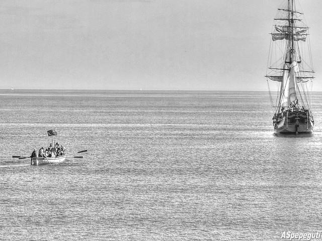II Recreación del desembarco y asalto de la Royal Navy a la base corsaria napoleónica de Málaga en 1812