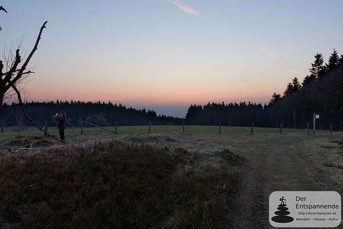 Sonnenaufgang auf dem heidebedeckten Gipfel des Kahlen Pön   by Frank Hamm