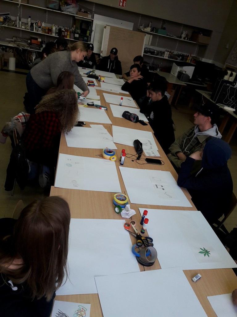 sessie 2 ateliersDKO schilderen met tape (5)