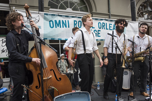 Taylor Smith and the Roamin' Jasmine play French Quarter Fest day 3 on April 13, 2019. Photo by Ryan Hodgson-Rigsbee RHRphoto.com