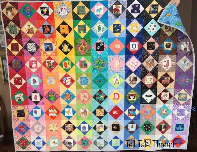 I-Spy IV rainbow Economy Block quilt