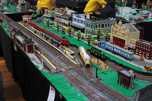 Lego model of Castlemaine station