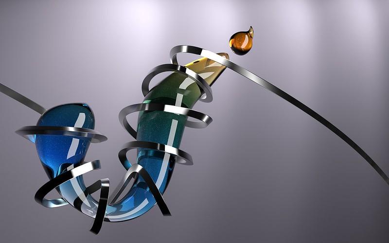 Обои стекло, форма, сплетение, спираль картинки на рабочий стол, фото скачать бесплатно