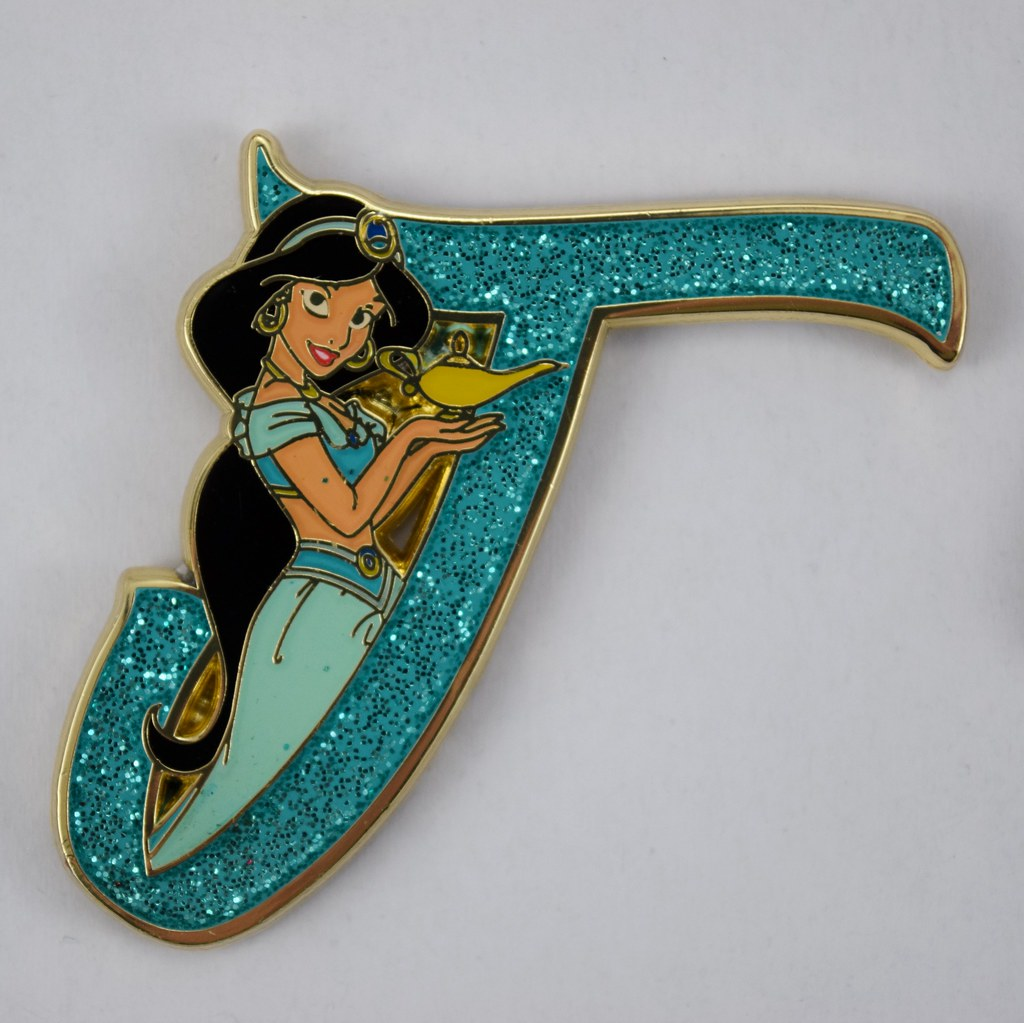 b8167c7a ... Disney Princess Letters Mystery Pin Collection - Disneyland Purchase -  Jasmine   by drj1828