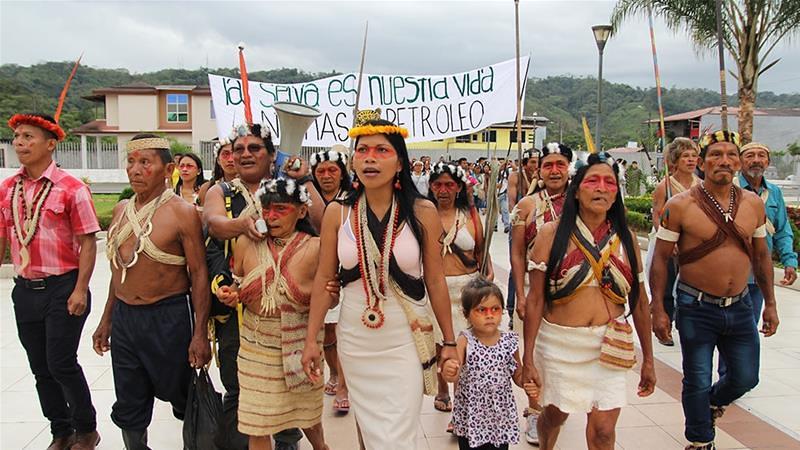 瓦奧族遊行前往法院。(圖片來源:Kimberley Brown/Al Jazeera)