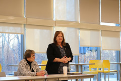 Rep. Haines attended an informational forum put on by Secretary of the State Denise Merrill with Sen. Needleman and Rep. Orange to learn more about a resolution to hold a referendum on allowing early voting