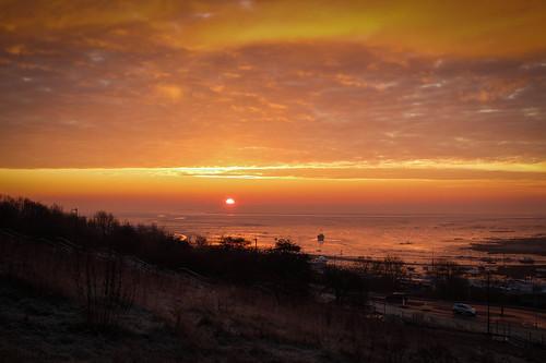 2019 essexcoast fujix20 fujifilmx20 january leighonsea river riverthames thamesestuary coast coastline landscape seascape sunrise