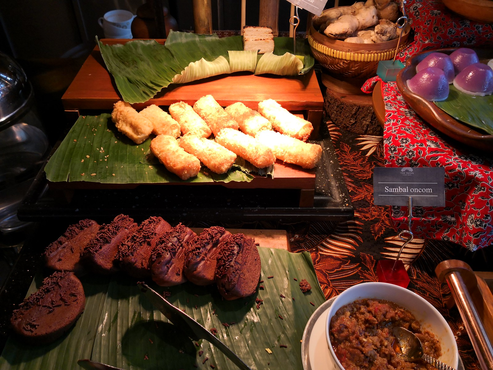 Indonesian snacks on the buffet