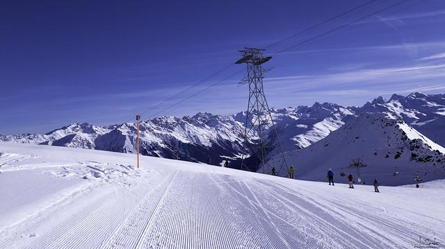 Skiing in Davos Parsenn - Graubünden - Switzerland