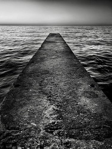 shotoniphone lake blackandwhite sunset ohio erie