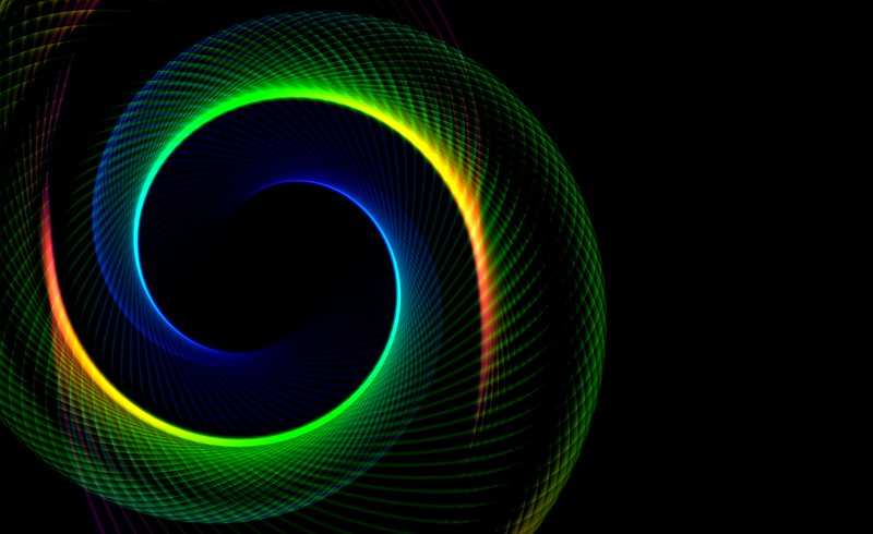 Обои фрактал, спираль, абстракция, узор, бесконечный, разноцветный картинки на рабочий стол, фото скачать бесплатно