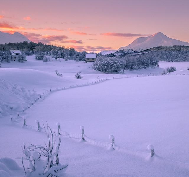 Storvannet in winterlight.