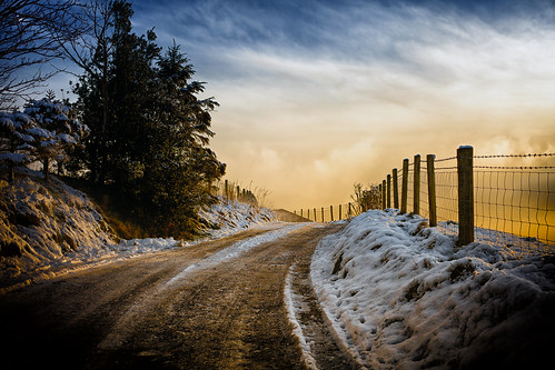 sunsetlane newhey rochdale sunset sunlight sky clouds cold frozen frost winter snow trees landscape lancashire land fantastic50mm farmland lane road path fence fields rural countryside outdoor outside northwest england february 2019 50mm ef50mmf18ll ef50mm canon canon5dmarkll canoneos5dmarkii
