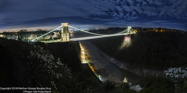 Clifton Suspension Bridge Nightime
