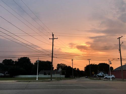 road trip usa sunset michigan