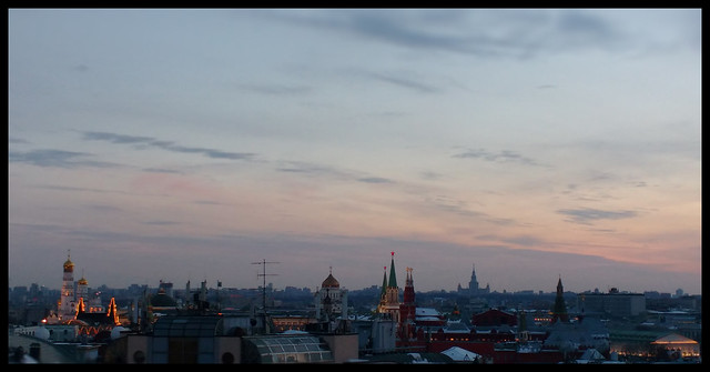 Cold sunset in Moscow