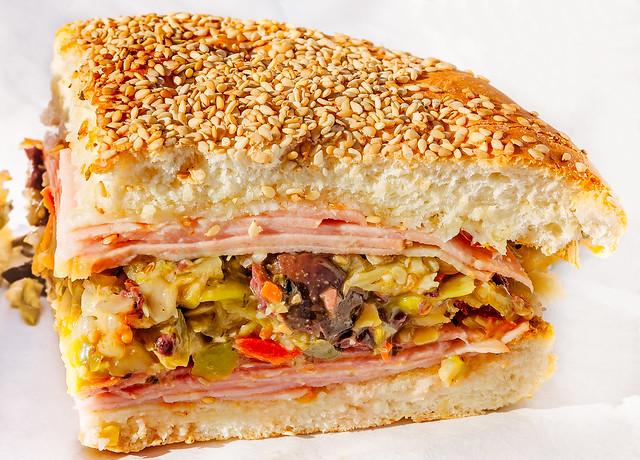 Muffuletta sandwich from Food Pak in Mobile Alabama