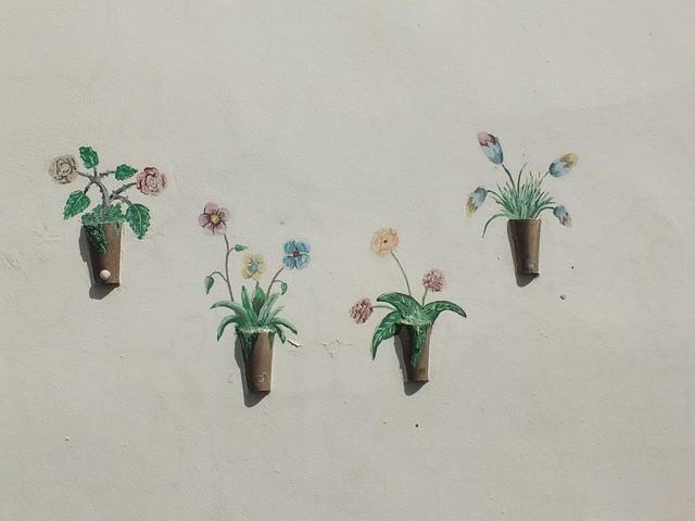 Flores en pared