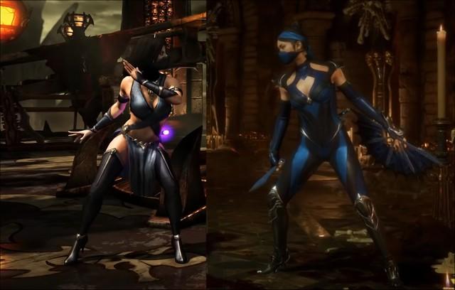 Mortal Kombat X Kitana'a karşı Mortal Kombat 11 Kitana